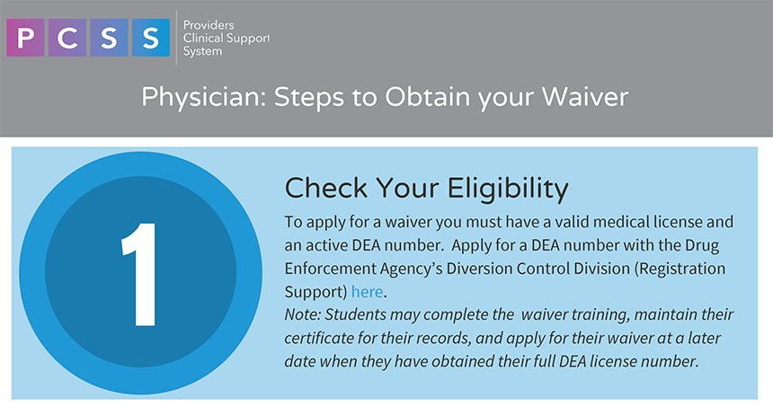 Physician Step 1 - Check Eligibility